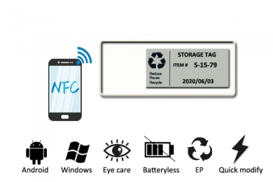 13.56MHz E-ink NFC Batteryless EPD Tag